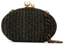 Isla - Glitter clutch bag - women - Nylon/Velvet/metal - OS - Nero