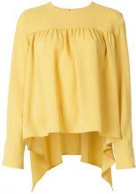 - Sonia Rykiel - Blusa svasata - women - fibra sintetica - 36 - di colore giallo
