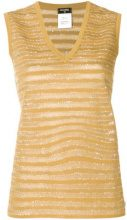 Chanel Vintage - sheer stripes tank - women - Viscose/Cotone/Nylon/Polyester - 42 - Giallo & arancio