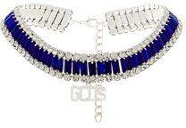 Gcds - Chocker con decorazione con cristallo - women - Crystal/Metal (Other) - OS - BLUE