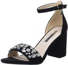 XTI 30755, Scarpe con Cinturino alla Caviglia Donna, Nero (Black), 37 EU