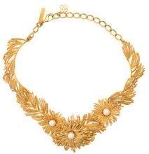Oscar de la Renta - pearl burst necklace - women - Peltro/Crystal/Brass/Gold - OS - Metallizzato