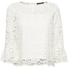 ESPRIT Collection 038eo1f019, Camicia Donna, Bianco (off White 110), 42 (Taglia Produttore: 36)