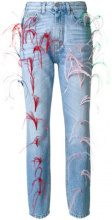Vivetta - Jeans con applicazioni - women - Cotton/Ostrich Feather - 40, 42 - BLUE