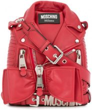 Moschino - bow embellishe mini backpack - women - Leather - OS - RED