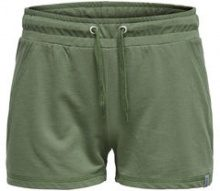 ONLY Solid Sweat Shorts Women Green