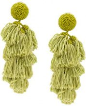 Sachin & Babi - Chacha earrings - women - Silk - One Size - GREEN
