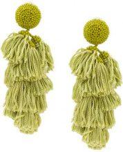 Sachin & Babi - Chacha earrings - women - Silk - One Size - Verde