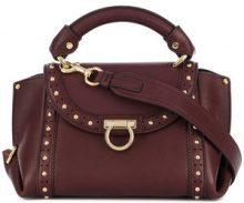 Salvatore Ferragamo - Borsetta tote con borchie 'Sofia' - women - Leather/Brass - OS - RED