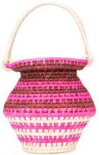 Sensi Studio - woven bucket tote - women - Straw - OS - PINK & PURPLE