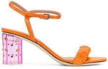 Marco De Vincenzo - perspex heel sandals - women - Silk/Goat Skin/Leather/Viscose - 35, 36, 37, 38, 39, 40 - YELLOW & ORANGE
