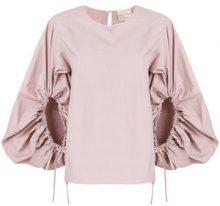 Erika Cavallini - Florence blouse - women - Cotton - 38, 42, 40 - PINK & PURPLE