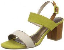 Marco Tozzi 28308, Sandali con Cinturino alla Caviglia Donna, Verde (Lime Comb), 37 EU
