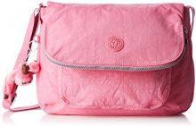 Kipling Garan, Borsa A Tracolla Donna, Rosa (Bubblegum Pink), 35x26x17 cm