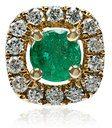 Rosa De La Cruz - Emerald and white diamond stud - women - Diamond/18kt Gold/Emerald - OS - GREEN