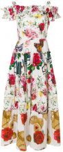 Dolce & Gabbana - Vestito con stampa multipla - women - Cotton - 40, 42, 38 - WHITE
