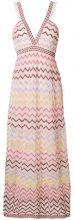 M Missoni - Abito in maglia a zigzag - women - Polyamide/Cotone/Metallic Fibre/Polyester - 44, 40, 42 - Rosa & viola