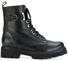 Baldinini - Stivali stringati modello militare - women - Calf Leather/Leather/Rubber - 39.5, 40, 40.5, 41 - Nero