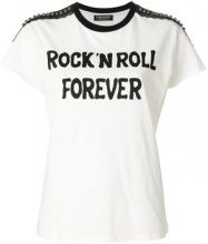 Twin-Set - T-shirt 'Rock n' Roll Forever' - women - Cotone/Polyester - S, M, L, XL - Bianco