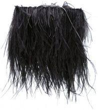 Isla - Clutch con piume - women - Polyester/Ostrich Feather/Satin - OS - BLACK
