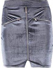 Laura in velluto minigonna con cerniera