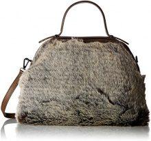 Chicca Borse 8473, Borsa a Mano Donna, Beige (Fango), 33x28x12 cm (W x H x L)