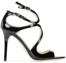 Jimmy Choo - Lang sandals - women - Leather - 36, 36.5, 37, 37.5, 38, 39, 40, 35.5, 38.5, 39.5 - BLACK