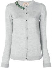 Nº21 - Cardigan con applicazioni - women - Silk/Wool - 38 - GREY