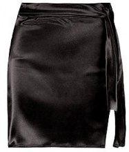 Holly Woven Shimmer Satin Split Mini Skirt