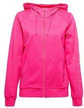 ESPRIT Sports 018ei1j008-Cardigan Logo, Felpa Donna, Rosa (Pink Fuchsia 660), 42 (Taglia Produttore: Small)