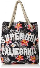 Superdry Summer Rope Tote, Borsa a Tracolla Donna, Multicolore (Marbelled Pop Floral), 5x37x38 cm (W x H x L)