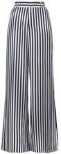 - Rta - striped palazzo pants - women - seta - S - di colore nero
