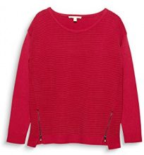 ESPRIT 018ee1i002, Felpa Donna, Rosso (Cherry Red 615), XX-Large