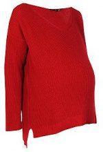 Premaman Lillian pullover con scollo a V extra largo