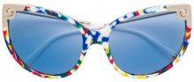 Dolce & Gabbana Eyewear - Occhiali da sole cat-eye 'Lucia' - women - Acetate - 60 - MULTICOLOUR
