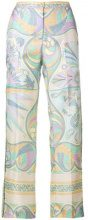 Emilio Pucci - Pantaloni crop - women - Silk - 46 - Multicolore