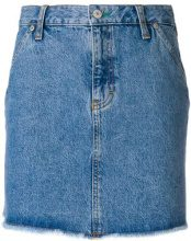 Tommy Jeans - raw edge denim skirt - women - Cotone - M, L, S, XS - BLUE