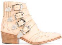 Toga Pulla - Stivaletti con fibbie argento - women - Calf Leather/Leather - 35, 36.5, 40 - NUDE & NEUTRALS