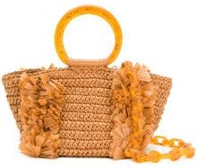Carolina Santo Domingo - woven tote - women - Viscose/Nylon - OS - Marrone