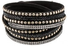 WANDA - Bracciale - black/crystal/gold-colored