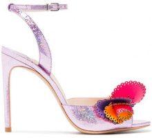 Sophia Webster - pink Soleil 100 glitter ruffle leather sandals - women - Leather/PVC - 35, 36, 36,5, 37, 37,5, 38, 38,5, 39, 39,5, 40, 40,5, 41 - ...