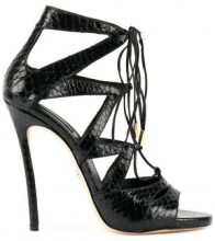Dsquared2 - tied strappy sandals - women - Goat Skin/Leather/Snake Skin/Lamb Nubuck Leather - 35, 36, 37, 37.5, 38, 38.5, 39, 39.5, 40, 41, 36.5 - ...