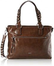 Gaudì Shopping-Linea Adele-cm.35x27x14, Borsa a Mano Donna, Marrone (Brown), 35x27x14 cm (W x H x L)