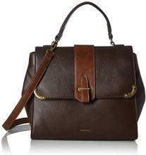 Tamaris Mette Handbag - Borsa Donna, Braun (Dark Brown Comb.), 17x23x29 cm (B x H T)