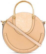 Chloé - Borsa 'Pixie' - women - Cotton/Calf Leather/Goat Skin - One Size - NUDE & NEUTRALS