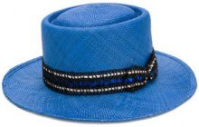 Misa Harada - embellished hat - women - Straw - OS - BLUE