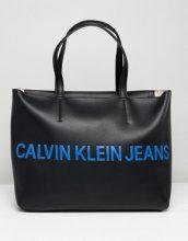 Calvin Klein Jeans - Maxi borsa con logo - Nero