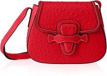 Chicca Borse 8616, Borsa a Spalla Donna, Rosso (Red), 25x20x9 cm (W x H x L)