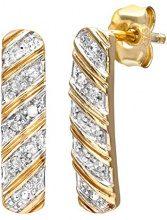 Naava Orecchini da Donna in Oro Giallo 9K con Diamante