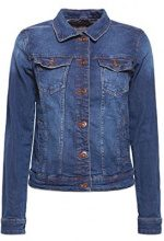 edc by Esprit 028cc1g011, Giacca in Jeans Donna, Blu (Blue Dark Wash 901), X-Small